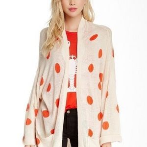 NWOT Wildfox Couture Polka Dot Print Cardigan